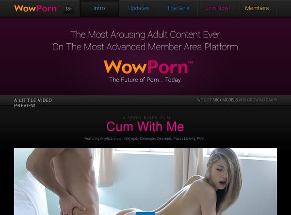 Get Wow Porn Free Logins