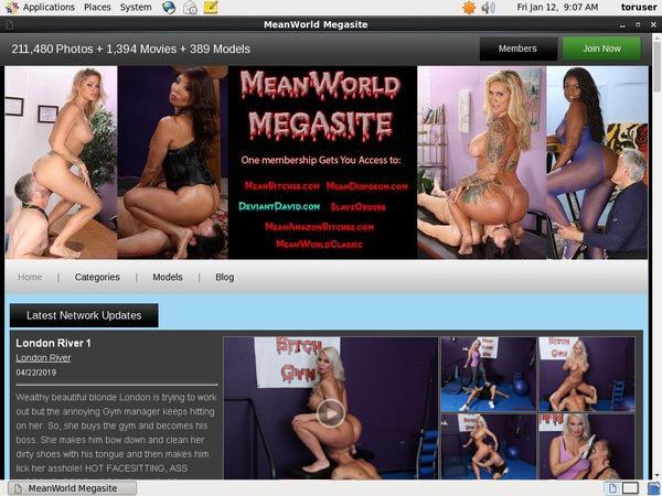 Meanworld Password Account