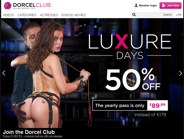 Dorcelclub.com With European Credit Card